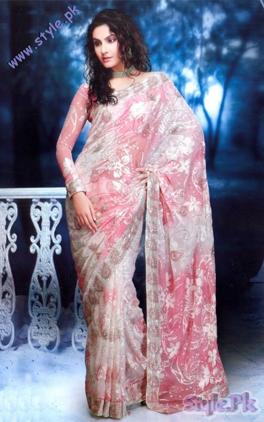 Brasso Pink Off White Fancy Designer Saree 520x832 fashion trends