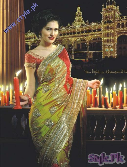 Nice Designer Saree for Indian Brides 520x682 fashion trends
