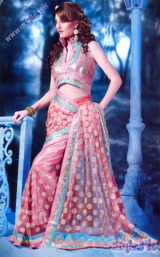 Pink Net Designer Wedding Saree 520x832 fashion trends