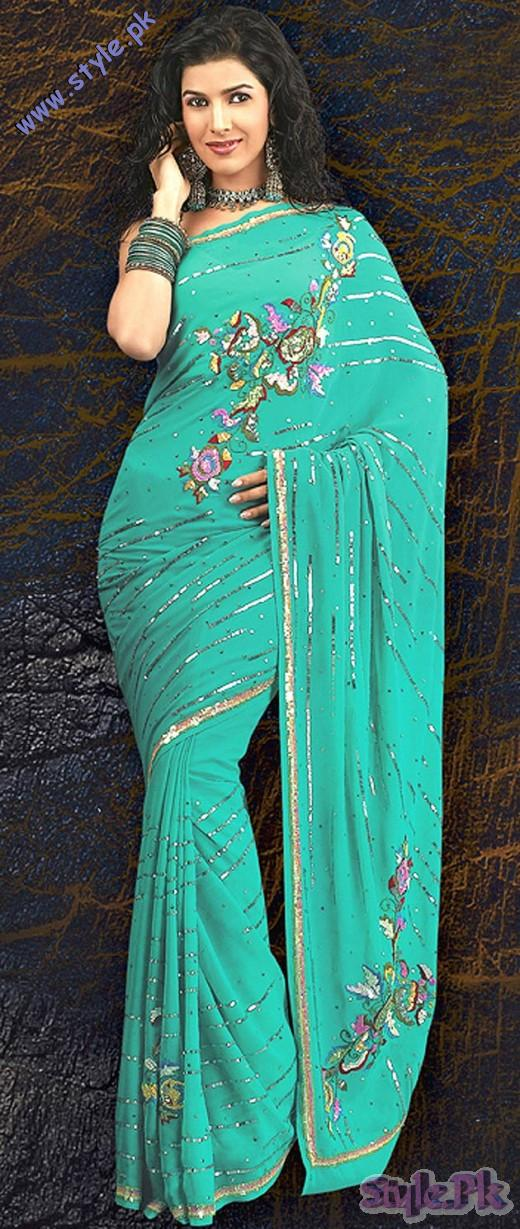 Pure Georgette Designer Saree with Blouse 520x1229 fashion trends