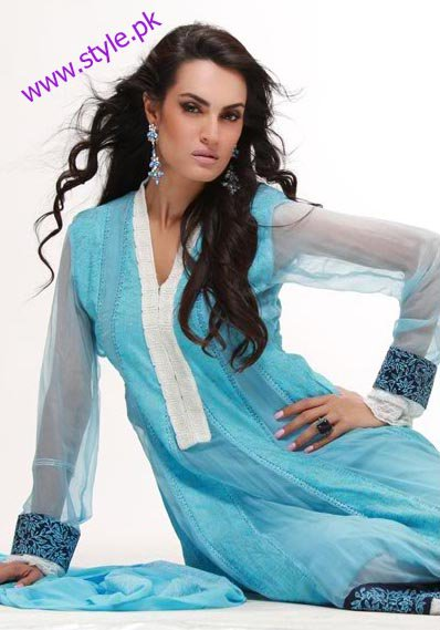 Beautiful blue dress by Nadia hussain signature lawn
