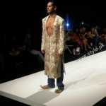 Indian Actor Deno Morea Walking on Ramp For Designer Saba Waseem