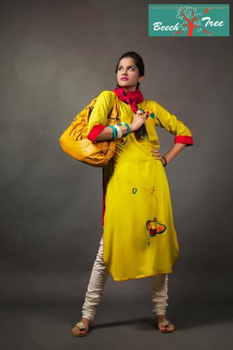 sunshine yellow casual eastern wear