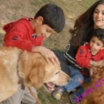Nadia With her Kids