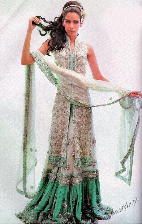 Nauratan bridal Lehanga Designs 2011 by Hina Khan