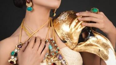 Pakistani model Amina sheikh wearing ENNZ jewellery By Nosheen Aamir