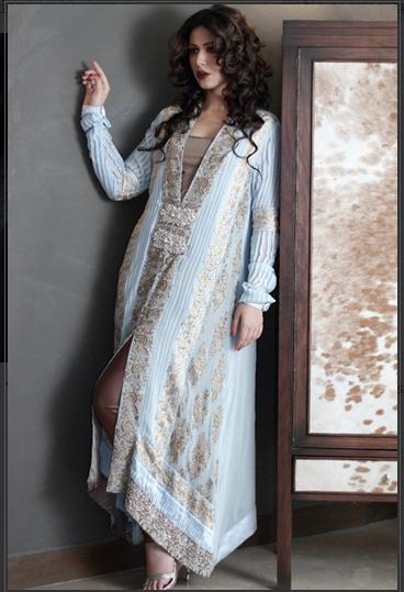 Super Model Ayyan Wearing Party Dresses by AFH ayesha farook hashwani