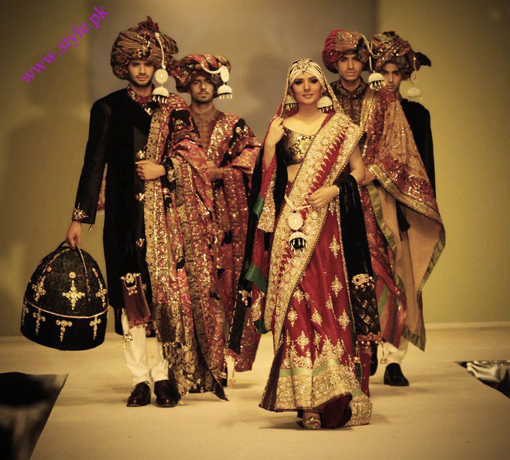 Ali xeeshan latest traditional bridal collection 2011