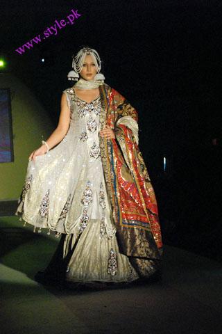 Ayyan wearing Ali xeeshan in fashion week