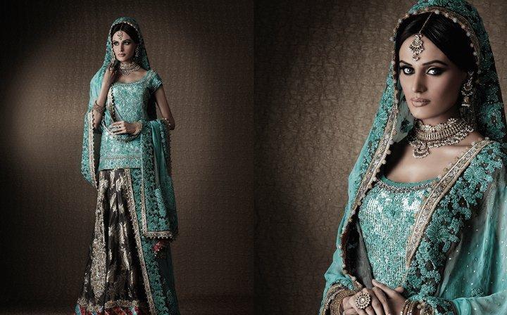 Mehreen pakistani model in umar sayeed latest collection