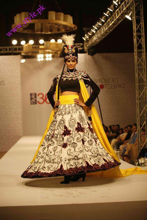 Pakistani model displaying Ali xeeshan collection