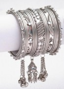 beautiful silver bangles