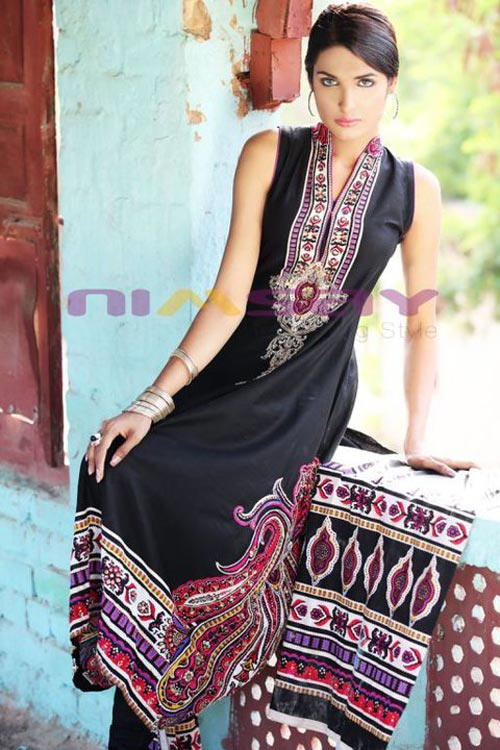 embroidered lawn dresses by nimsay