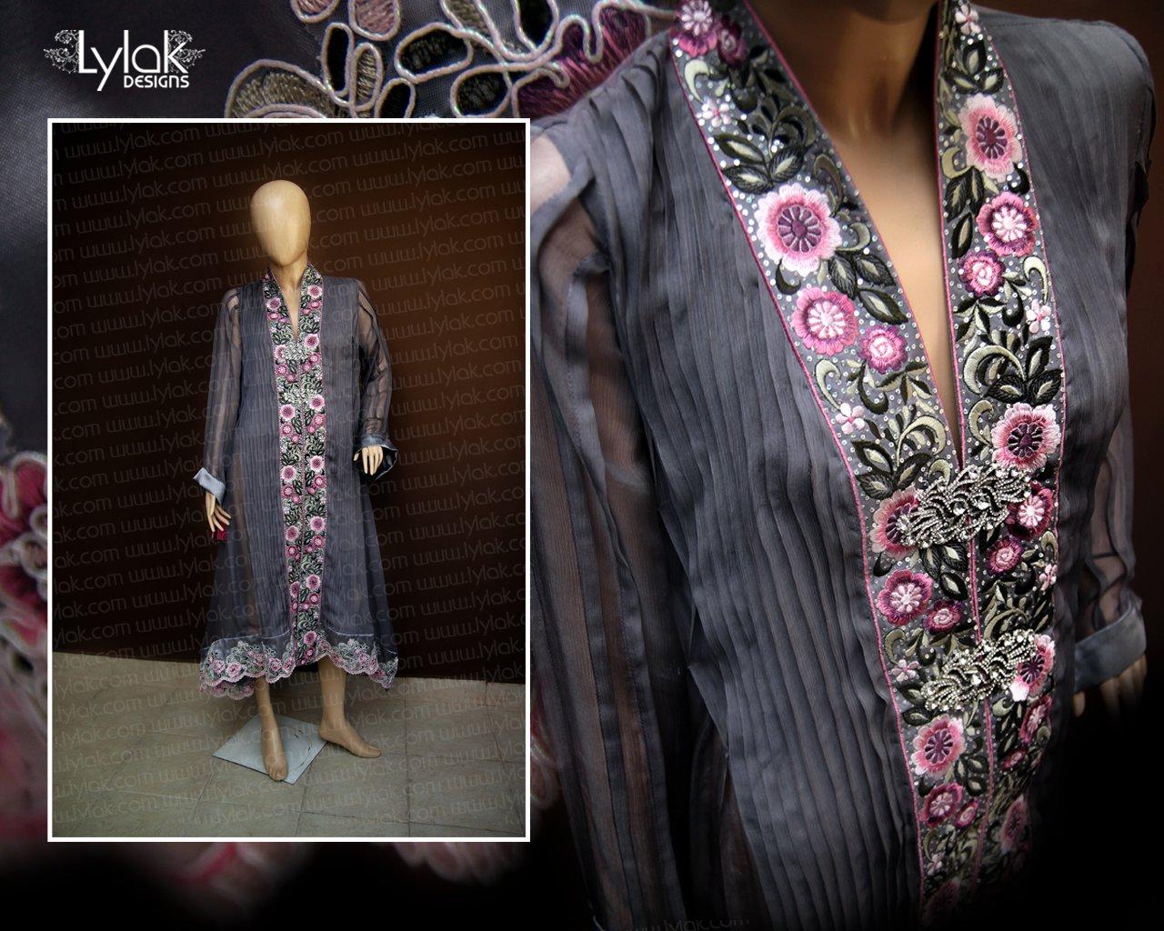 Gray Formal Dress by Lylak Designs 011