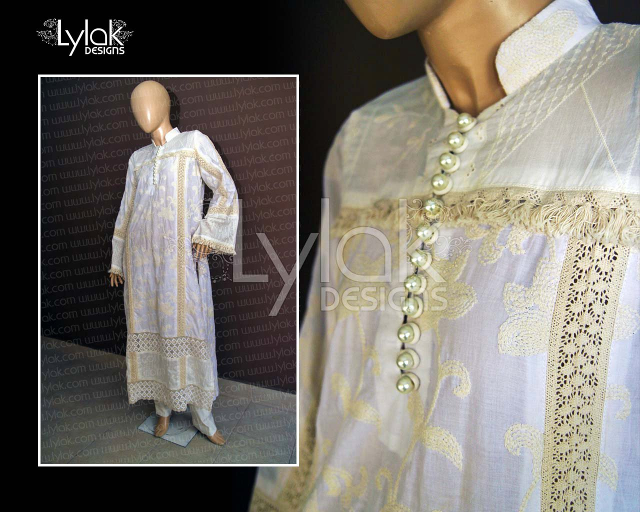 Offwhite Casual Shirt by Lylak Designs 007