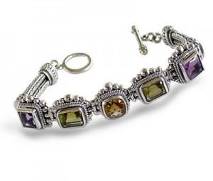Silver Bracelet with gems 300x255