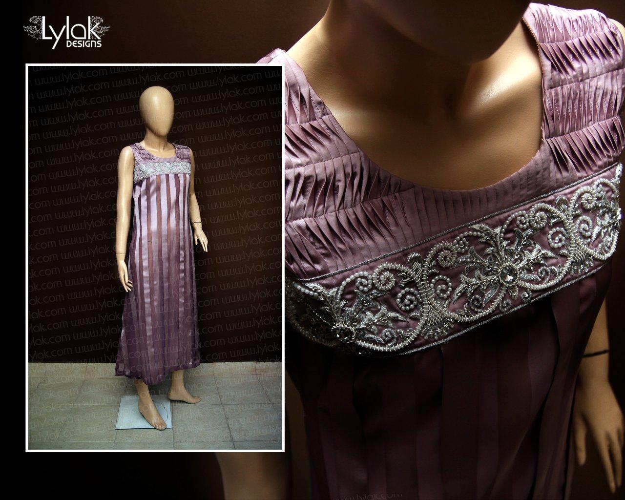 Tea Pink Evening Wear Dress by Lylak Designs 003