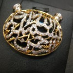 silver and gold plated Allah pendant for girls 1 (1)
