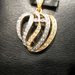 silver and gold plated Allah pendant for girls 1 (17)
