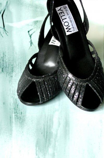 Black Glitter Heels 005