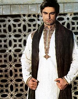 Junaid Jamsheds Sherwani Style 2011 7style.pk