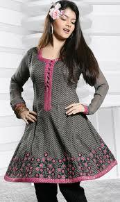 Embroidered kurti with jeans