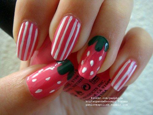 Pink Nail Art Design 003