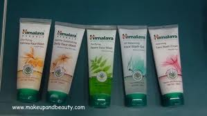 face washes and moisturizers