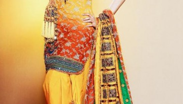 Bridal mehandi dresses collection 2011 001 style.pk
