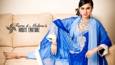Party Wear Collection by Faru and Mehru's Haute Couture 001 style.pk
