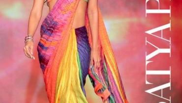 Printed Indian Sarees By Satya Paul 2011-2 style.pk
