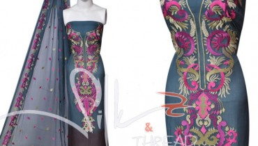 Latest Embroidery Dresses for Women by Silk and Thread 01