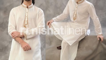 Naqsh Men Embroidery Kurta Collection by Nishat Lenin 01