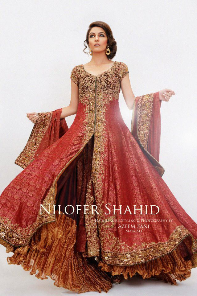 Nilofer Shahid Latest Bridal Collection 2011 2012 01