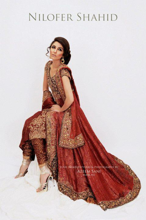 Nilofer Shahid Latest Bridal Collection 2011 2012 02