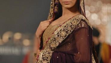 Sara Rohale Asghar bridal in PFDC L'Oreal Paris Bridal Week a