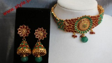 Latest Antique Jewelery Collection By Faru & Mehru 2012-006