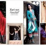 Five Star Textiles Swiss Voile & Zari Net Collection 2012 5