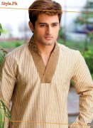 Latest Summer Kurta Shalwar For Men by Grace Fabrics 2012-012