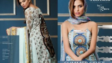Subhata Embroidered Lawn Collecton For Summer 2012-014