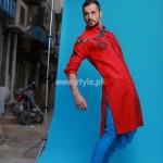 Arsalan And Yahseer Summer 2012 Rangeen Kurta Collection 007