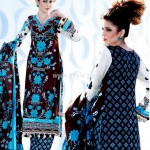 Latest Summer Yashfeen Lawn-Cotton Inn Collection By Maria's Collection 2012 009