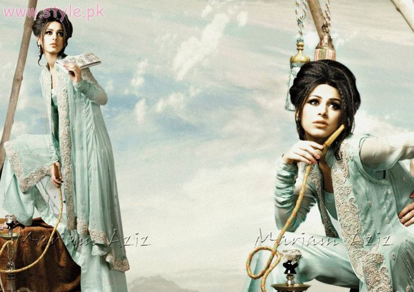 Mariam Aziz Latest Fashion Dresses For Parties 2012 001