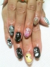 simple nail art designs for summer 2012