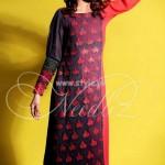Needlez by Shalimar Latest Color Blocking Outfits 2012 001