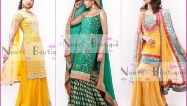 Noorz Boutique Mehndi Dresses 2012 For Women 001