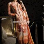 Crescent Lawn By Faraz Mannan Latest Eid Dresses 2012 For Women 002