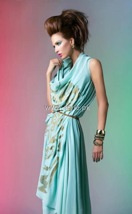Nadia Ellahi 2012 Fusion Wear Outfits for Girls