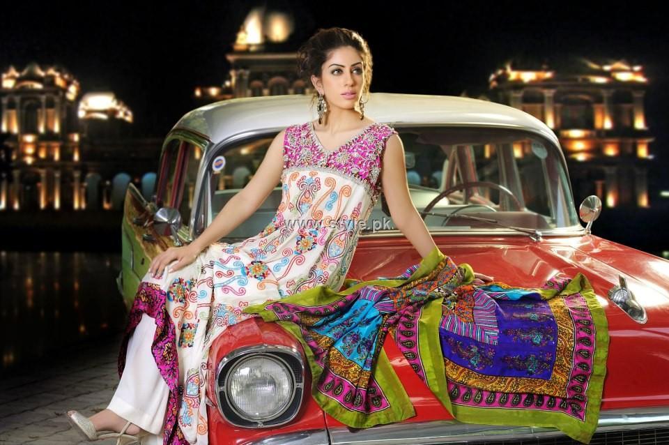 Shirin Hassan Block Printed Formal Wear Collection 2012