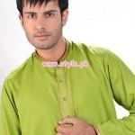 Latest Satrangi by Saqib Eid 2012 Kurta Shalwar Designs 009